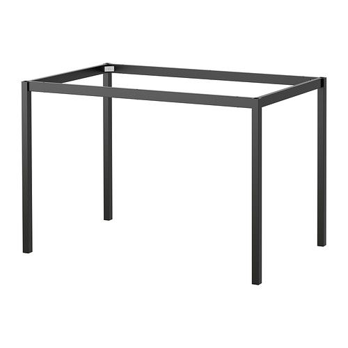 We would buy a custom cut glass top for this...and probably spray paint it. TÄRENDÖ Underframe   - IKEA