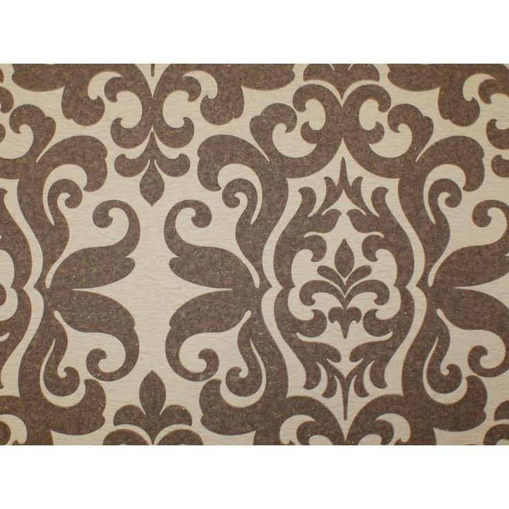 Обои флизелиновые 1,06х10 м, вензель, бежево-коричневый, Обои декоративные - Каталог Леруа Мерлен