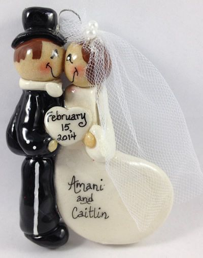 9 best Personalized Wedding Christmas Ornaments! images on Pinterest ...