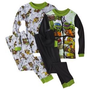 Teenage Mutant Ninja Turtles Boys' 4-Piece Pajama Set