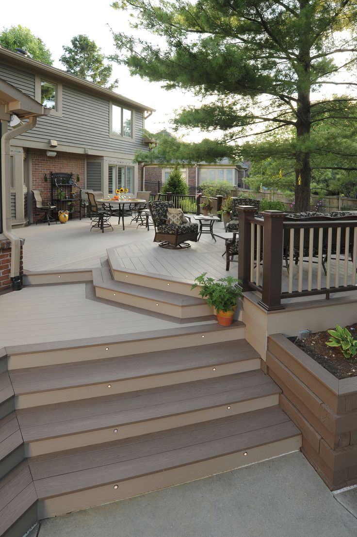 AZEK Harvest Collection in Brownstone with Sedona accents with Premier Rail in Kona.