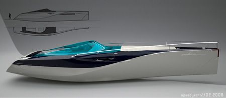 lightweight carbon fiber, motoryacht design, daniel hahn, motor yacht, primary materials, professional designer, personal space, eden, honeymoon, shape, futurism, futuristic design, futuristic watercraft