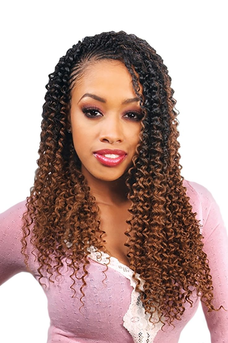 "Freetress Crochet Braiding Hair Water Wave 22"" / 1B - Off Black, Crochet Braiding Hair - Shake-N-Go, Tisun - 2"