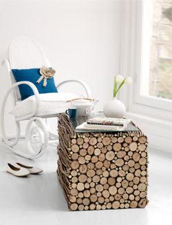 Van sprokkelhout een supermooie en originele bijzettafel maken. Dat kan! Op 101woonideeën.nl lees je hoe dat moet.