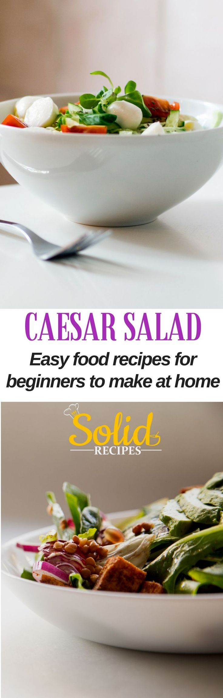 CAESAR SALAD – easy food recipes for beginners to make at home Not always the photos matched the recipe. Caesar salad dressing | Caesar salad recipe | Caesar salad dressing recipe | Caesar salad dressing homemade | Caesar salad dressing no anchovies