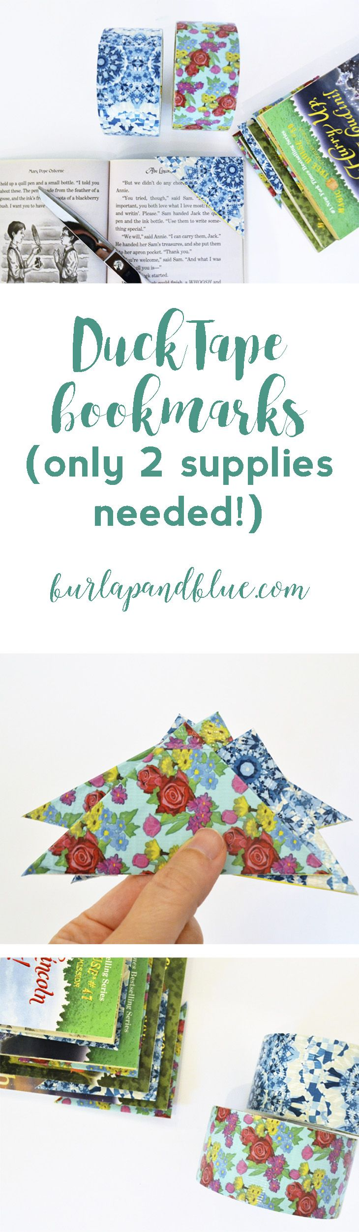 easy two-step duck tape bookmarks with @theduckbrand using inexpensive folders!