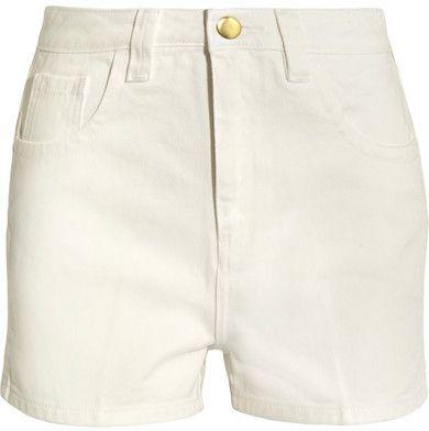 Topshop Unique - Holyport Denim Shorts - White
