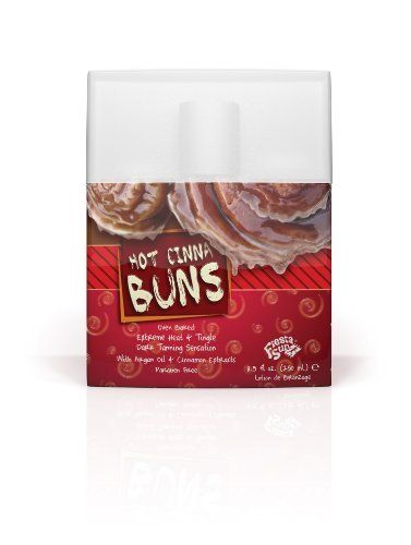 Fiesta Sun HOT CINNA BUNS Heat Tingle Tanning Lotion 8.5 oz. by Fiesta Sun. $20.00. Extreme Heat & Tingle Dark Tanning Formula. Accelerator/Bronzer/DHA Extreme Heat & Tingle Dark Tanning Sensation Mmmmm its so familiar and its so good! The delicious aroma of fresh baked cinnamon buns provides a skin satisfying, piping hot tanning sensation. The rich, deep, dark color you receive from this mouth watering tanning treat is amazing beyond belief.This fat free form...