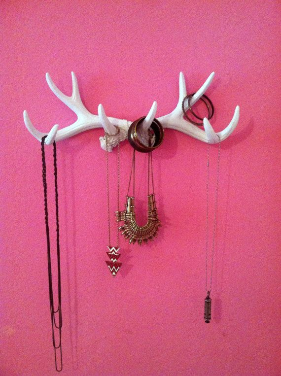 Faux Antler Deer Rack White Jewelry Holder by InfiniteLoveDesign, $39.99