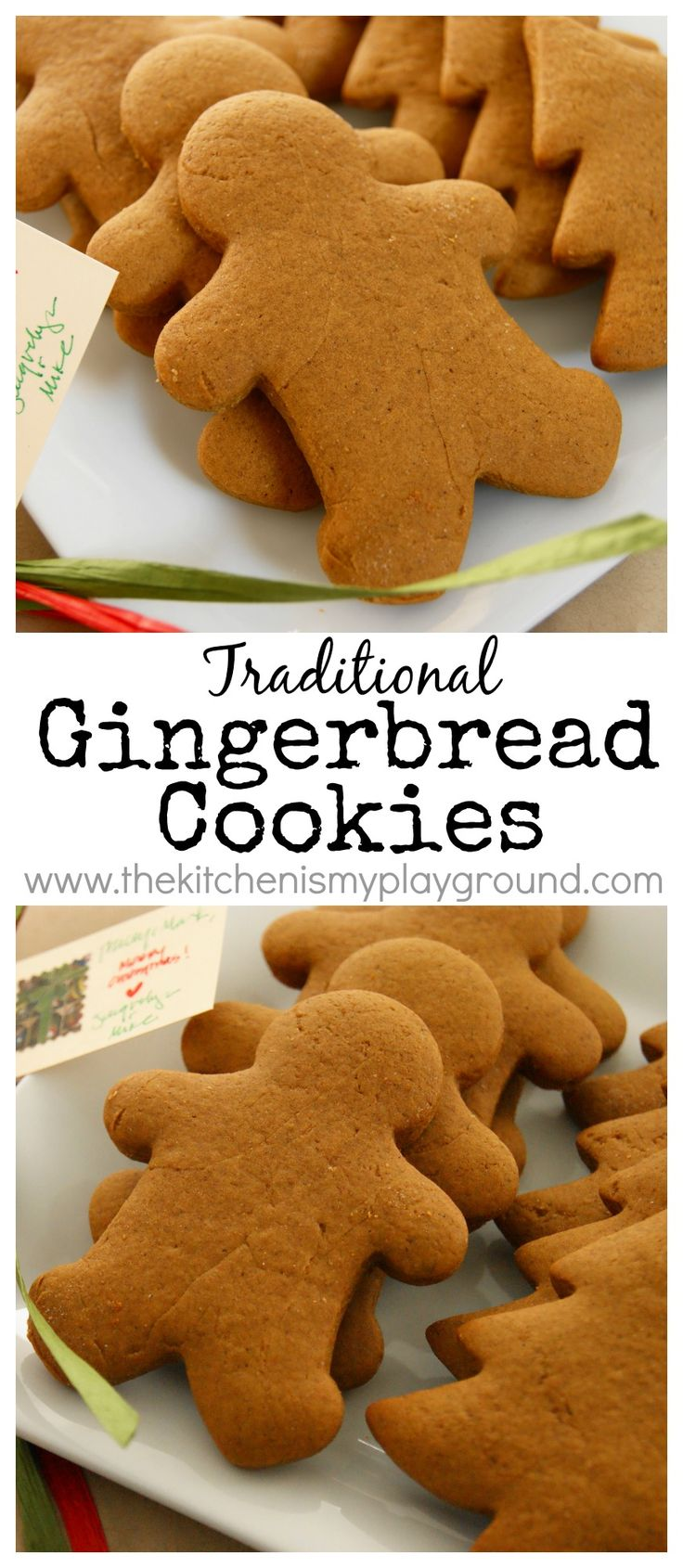 Traditional Gingerbread Cookies ~ it's just not Christmas without a big batch of these classic cookies! www.thekitchenismyplayground.com