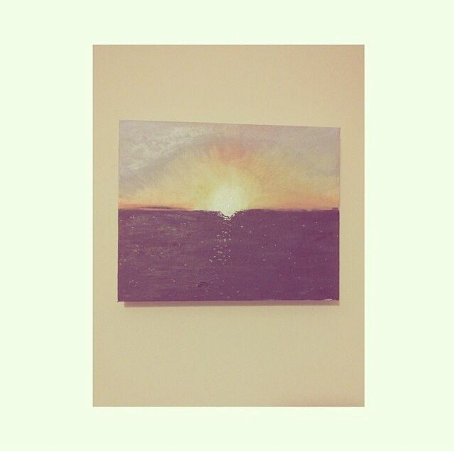 Sunset Canvas - Holly Brooker