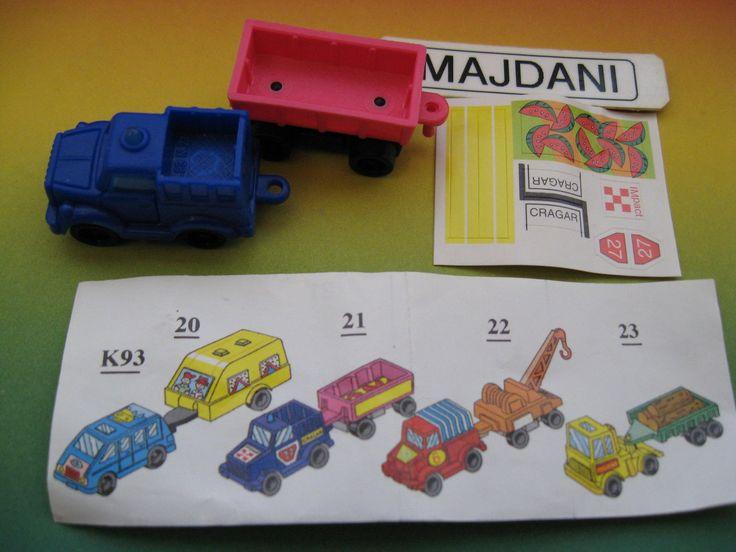 K93 21 Auto Jeep Fuoristrada Con Rimorchio Cartina Versione 1 Kinder Italia   eBay