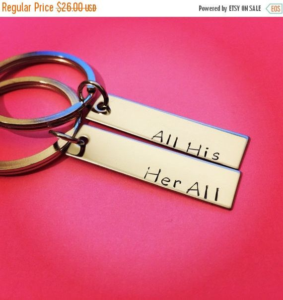 Stocking Stuffer, All His Her All Keychains, Couple Keychains, Couples Gift, Anniversary Gift, Boyfriend Girlfriend Keychain, Christmas GIft