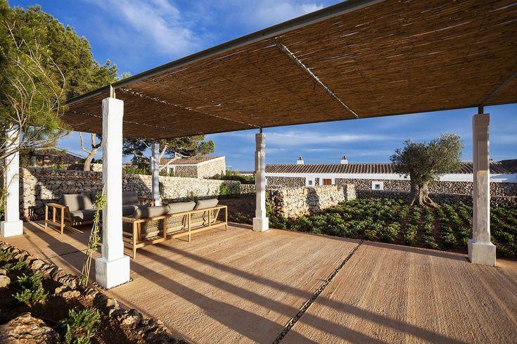 Hôtel Minorque, terrasse, soleil, vacances été