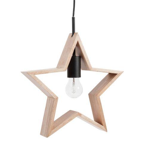 Suspension étoile en bois D 33 cm ORION