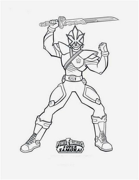 Coloring Page Power Rangers Free