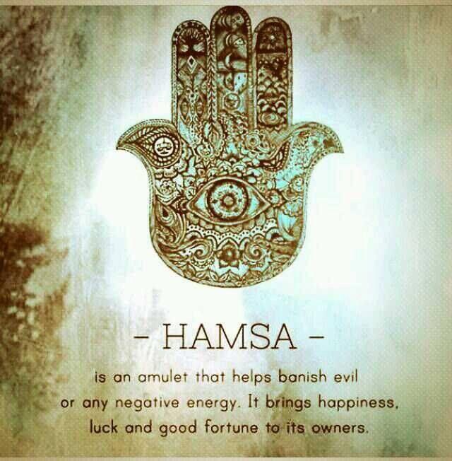 That's why I always wear my Hamsa.