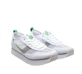 Adidasi albi cu platforma si plasa ieftini