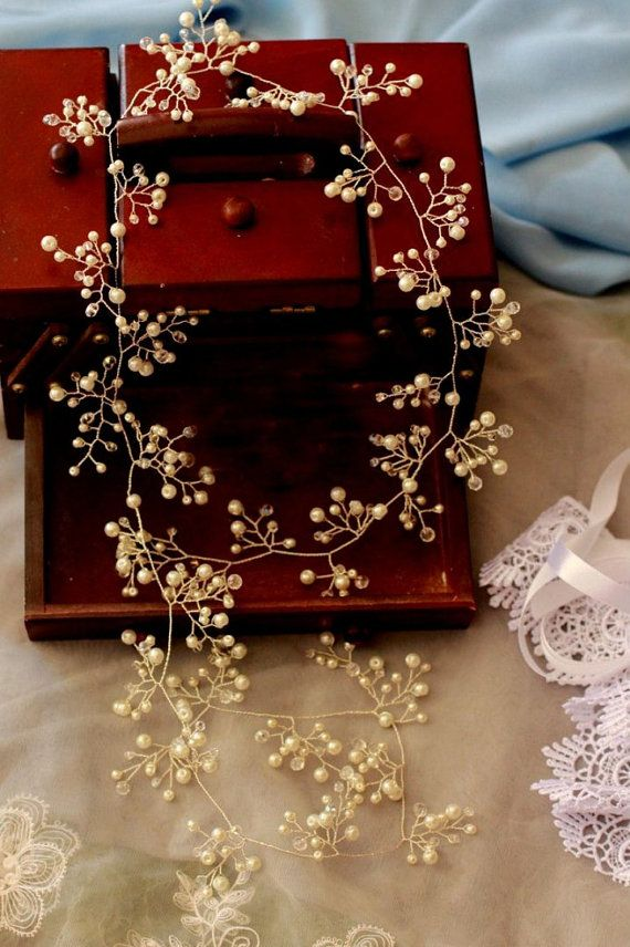 Stunning Bridal hair ornament in the form of vines, decorate your hair and make…