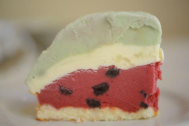 watermelon bombe // ice cream cake