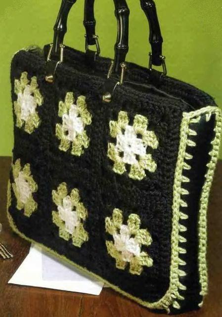 Вязаная сумка из бабушкиных квадратов