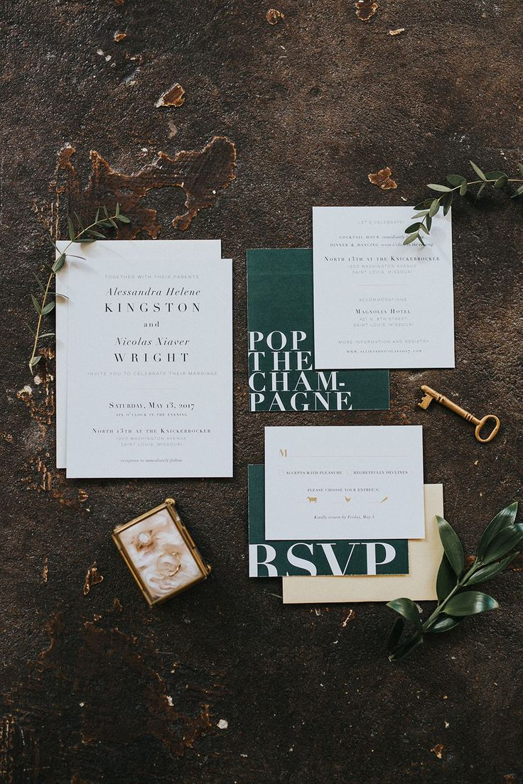 funny wedding invitation rsvp goes viral%0A green and white wedding invitations  photo by Jacoby Photo and Design  http