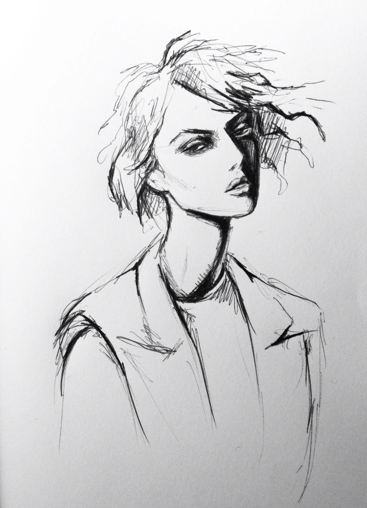 Pen doodle fashion illustration by Lara Wolf #fashion #illustration