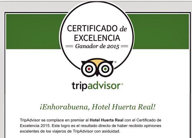 #Certificadodeexcelencia #Tripadvisor
