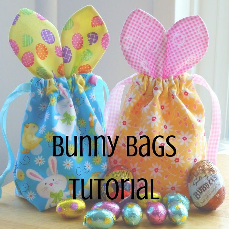 Easter Bunny Bags Tutorial - Just Jude Designs - Quilting, Patchwork & Sewing patterns and classes