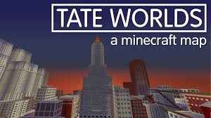 """""""Tate worlds"""" - Videogame in stile Minecraft per la Tate Gallery di Londra, 2014: Mappa Minecraft ispirata al dipinto di Christopher Richard Wynne Nevinson, """"The Soul of the Soulless City"""" ('New York - an Abstraction'), 1920, olio su tela"""