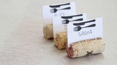placecard holder wine cork craft