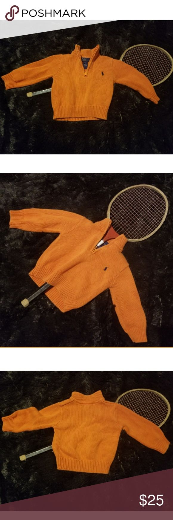 🎉Polo Infant Boys Orange Zip Up Cotton Jacket🎉 Perfect for fall! Orange Polo zip up jacket for the little man in your life. Size 18M. Super comfortable. 100% Cotton. In great condition. Polo by Ralph Lauren Jackets & Coats