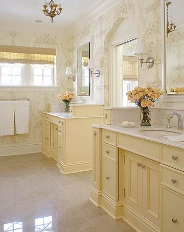 Vanities bathroom vanities and yellow paint colors on for Bathroom yellow paint