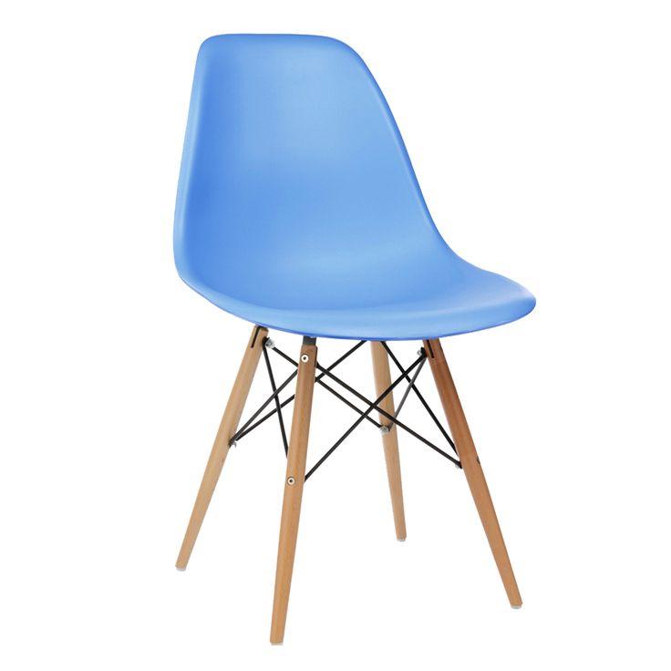 เก้าอี้ Eames DSW สีฟ้า เป็นเก้าอี้ดีไซต์ที่สวยงามหลากหลายสีสัน วัสดุนั่งทำจาก PP เกรดพรีเมี่ยม และ ขาทำจากไม้ Beech อย่างดี แข็งแรงและทนทาน