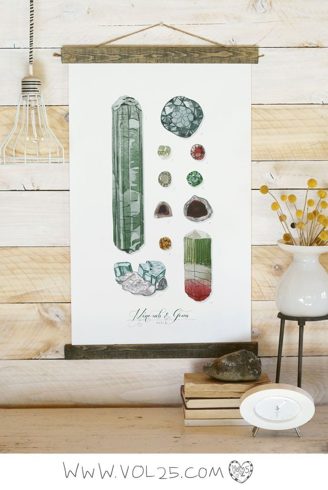 VINTAGE SCIENCE POSTER ROCKS AND MINERALS
