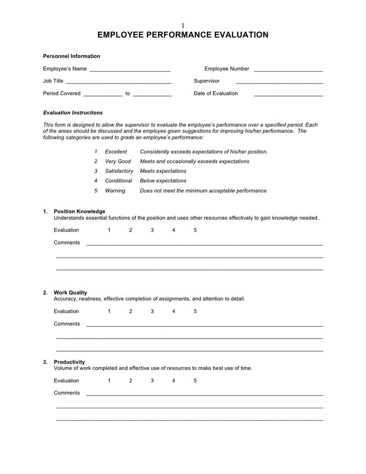 New Employee Evaluation Template  BesikEightyCo