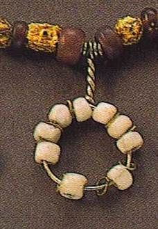 Glass beads of the Viking age  This looks just like the token I was given by Queen Ann-Marie at my first Maidens event in 2008