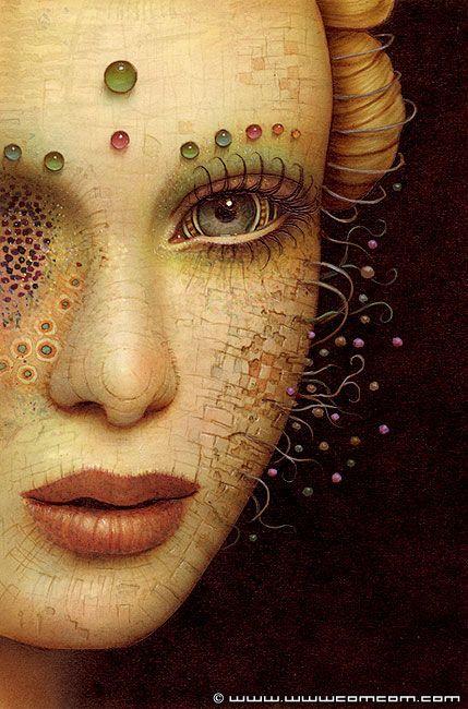 femme demi visage 2