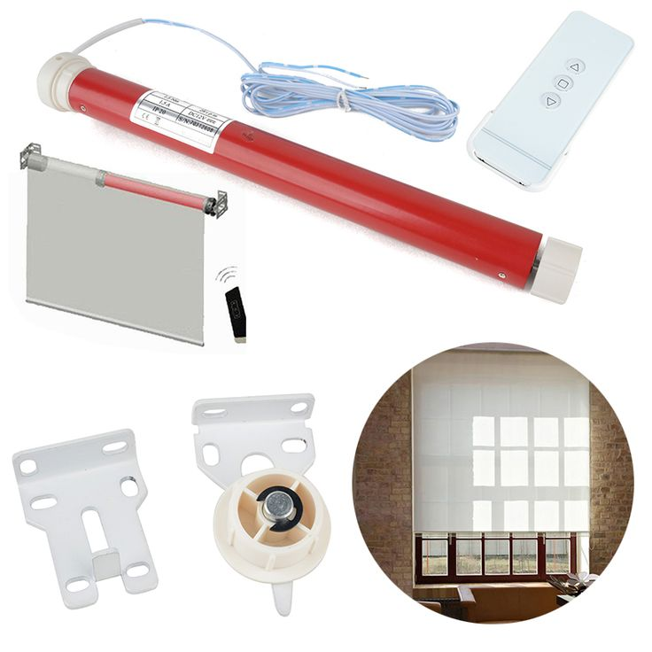buy 12v diy electric roller blind shade tubular motor kit with remote controller for curtain shade #electric #shades