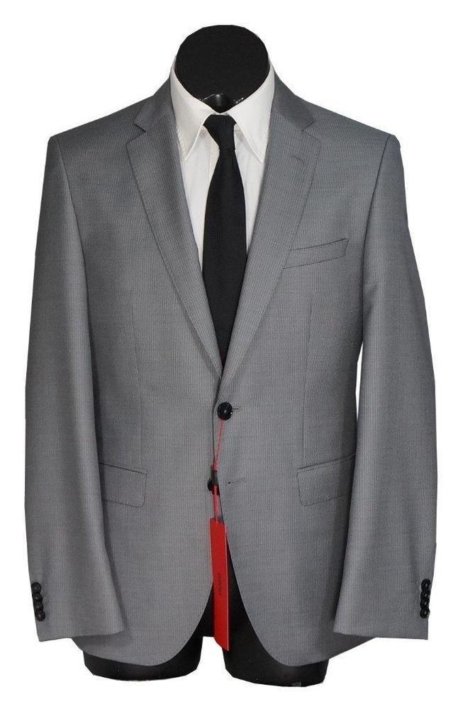 a6cb0526 eBay #Sponsored New Hugo Boss C-Jefferd/C-Stedson 100S Wool 2 Btn Slim Fit  Suit MedGray 38R
