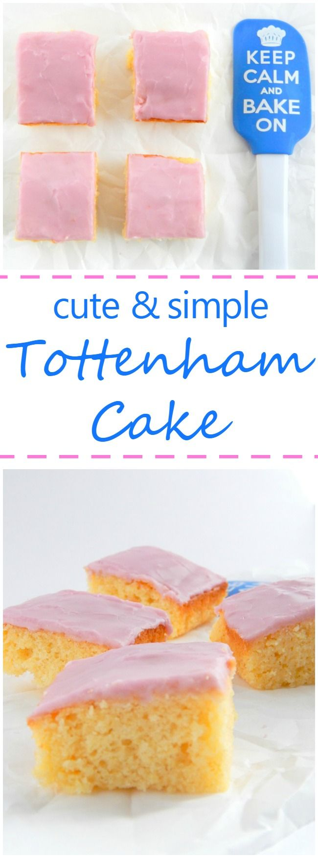 Inspired by the Great British Bake Off, this recipe for Tottenham Cake is easy, takes less than an hour, and is perfect for snacking and sharing.