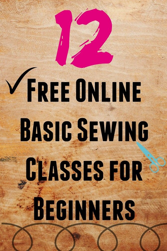 12 Free Online Basic Sewing Classes for Beginners on believeninspire