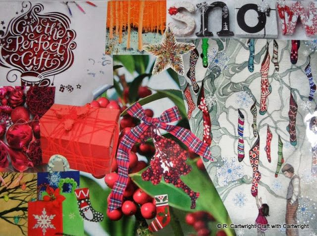 christmas moodboard Craft with Ruth Cartwright