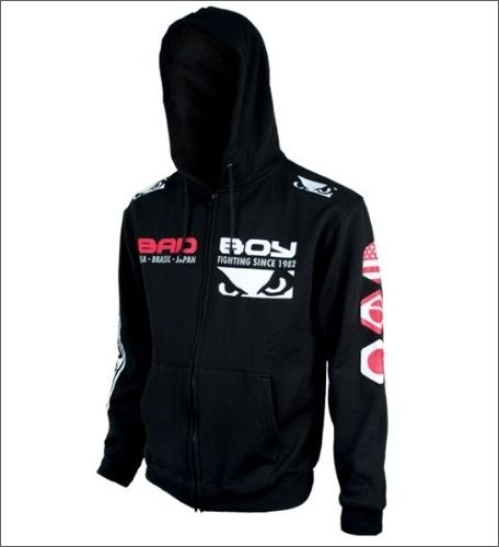 http://www.hotlistsports.com. Bad Boy MMA Stamp Walk Out Full Zip Hoodie (Black). Excellant for walking down the isle to the cage. Or for sporting out on the town.