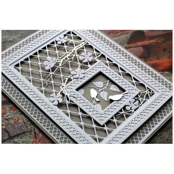 Paper Discovery Card Panel Builder With Trellis Floral And