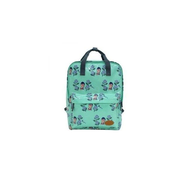 """""""Aurore"""" Series Square Backpack (270 BRL) ❤ liked on Polyvore featuring bags, backpacks, accessories, green backpack, faux leather backpack, fake leather backpack, backpack bags and multi color backpack"""