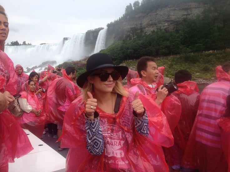 Ashley Benson from t.v. show, 'Pretty Little Liars' visits Hornblower Niagara Cruises