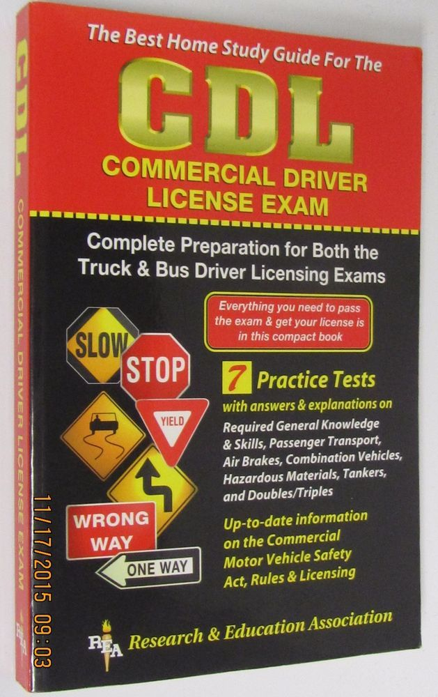 CDL :COMPLETE Test Preparation for Commercial BUS/TRUCK Driver's License Exam... #Textbook