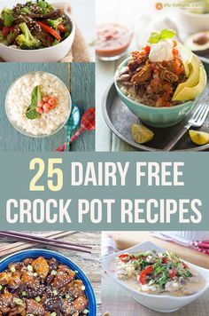 I have 25 different dairy free crock pot recipes for you to browse and choose which ones you think look good and want to make for dinner tonight.