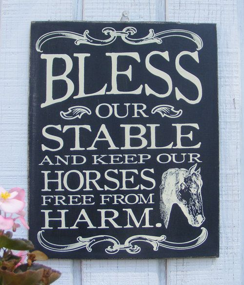 Hey, I found this really awesome Etsy listing at http://www.etsy.com/listing/107203383/bless-our-stable-hand-screened-wood:
